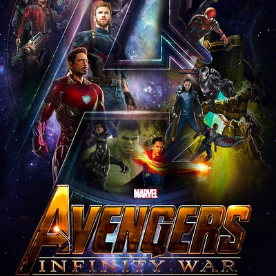 Laury guintrand avengers infinity war poster by the dark mamba 995 dbvfm2k