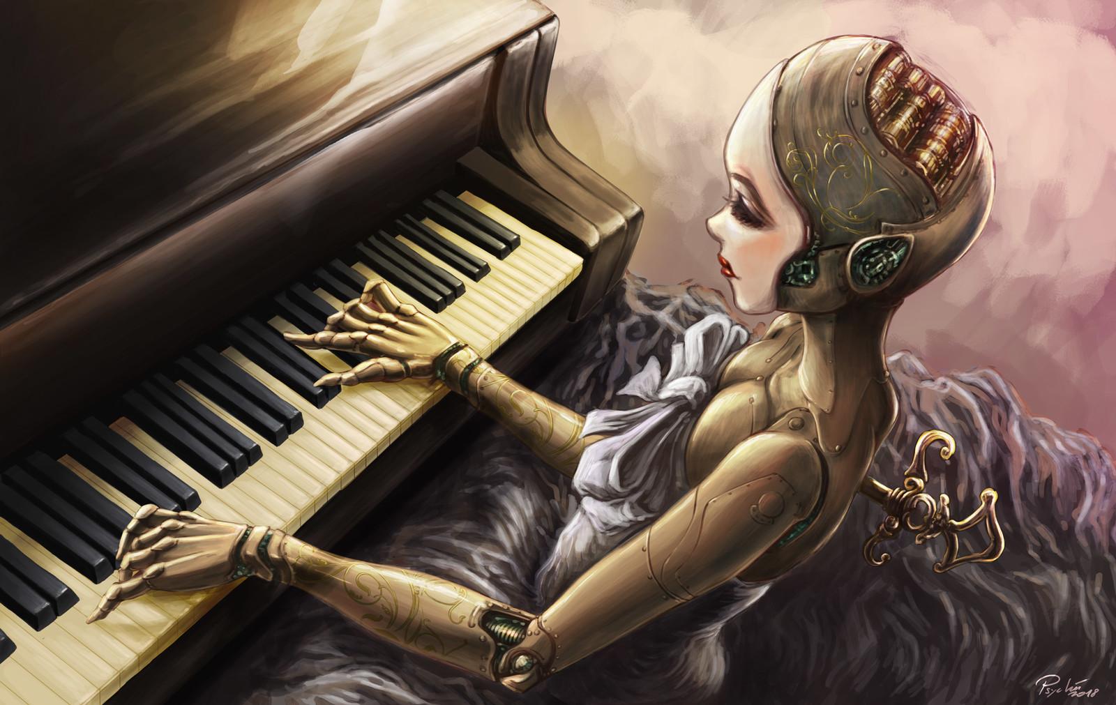 Automaton and piano