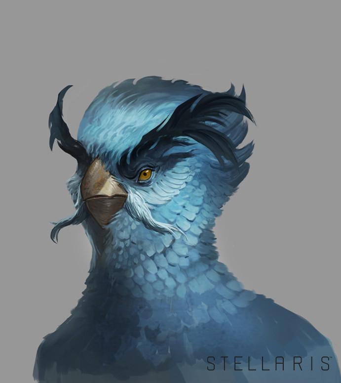 Extra bonus Space bird portrait