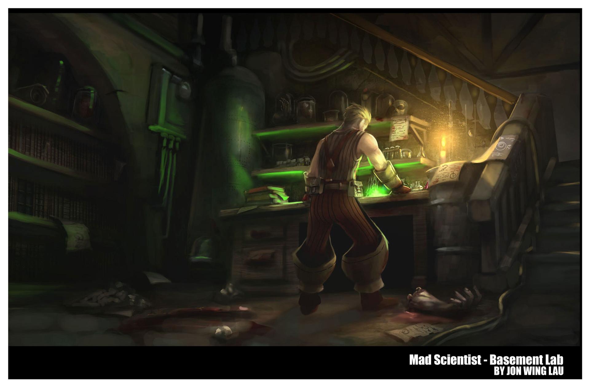Jon wing mx scientist basement lab