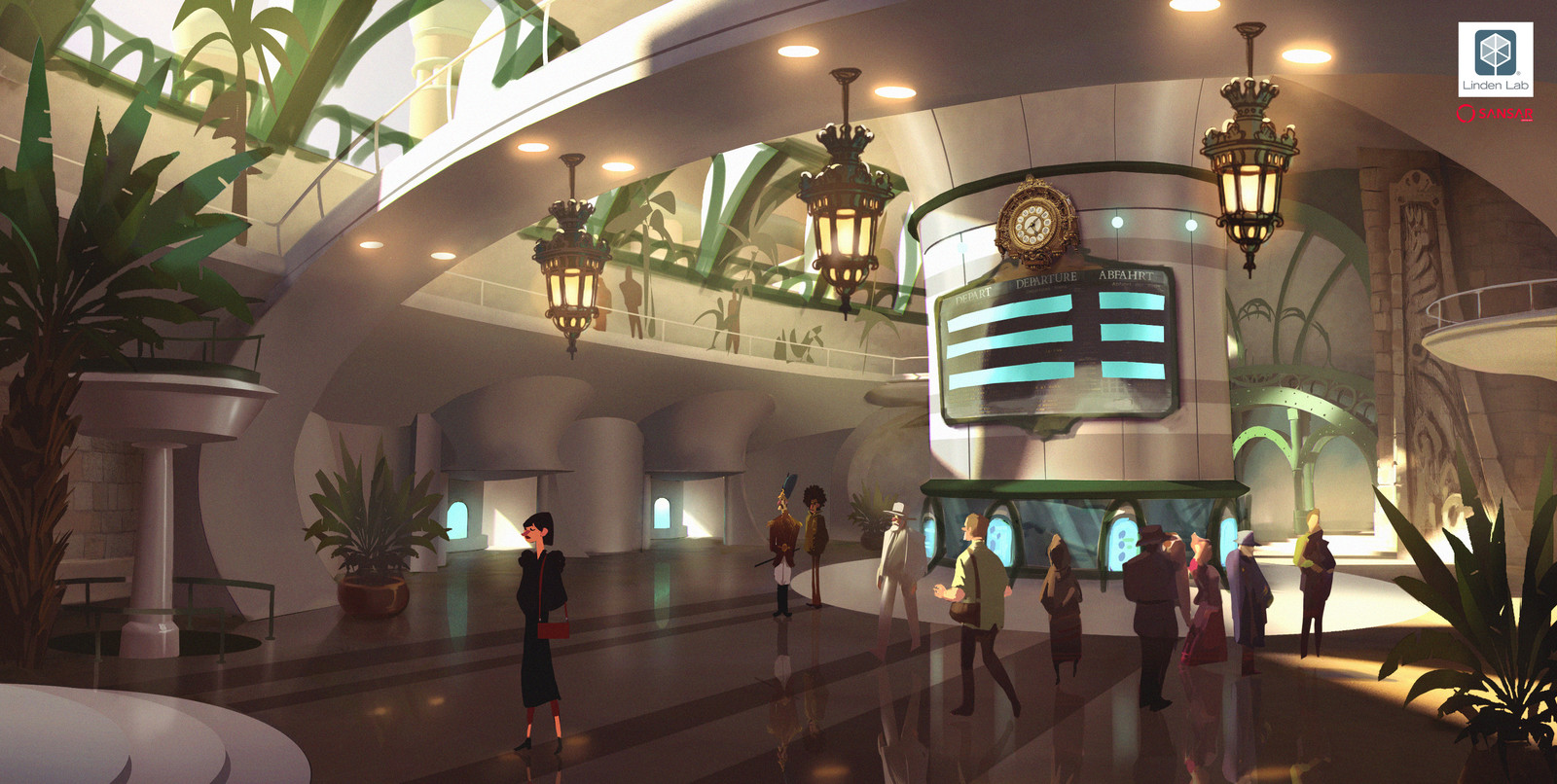 Concepts done in 2015 for Sansar, a social VR experience by Linden Lab