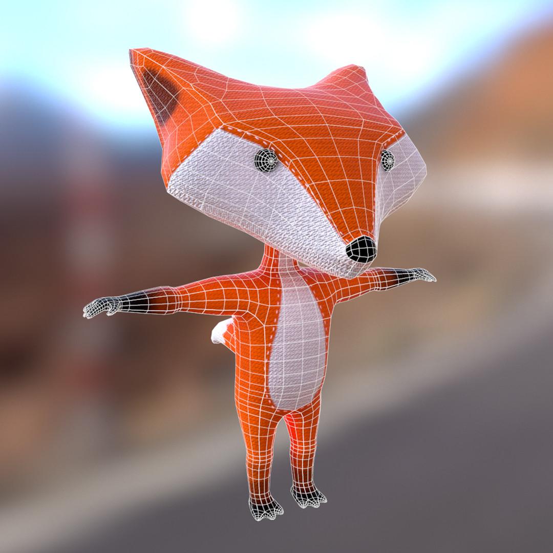 Fox wireframe