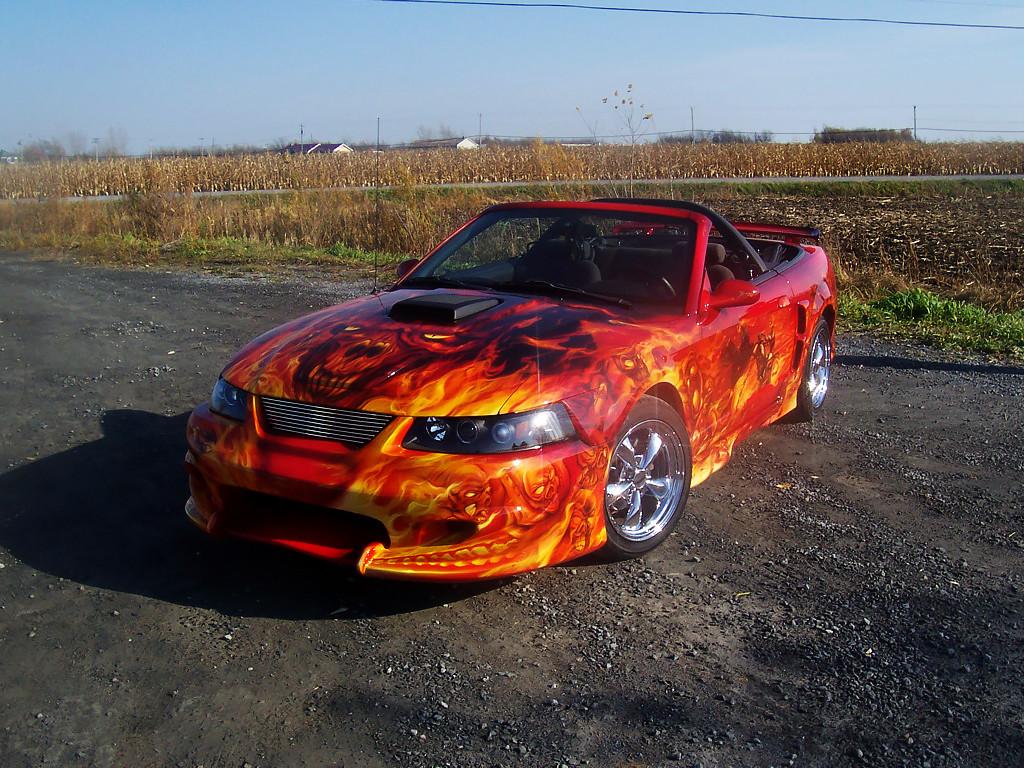 ArtStation - Ghost Rider Mustang - Airbrush, Ben National