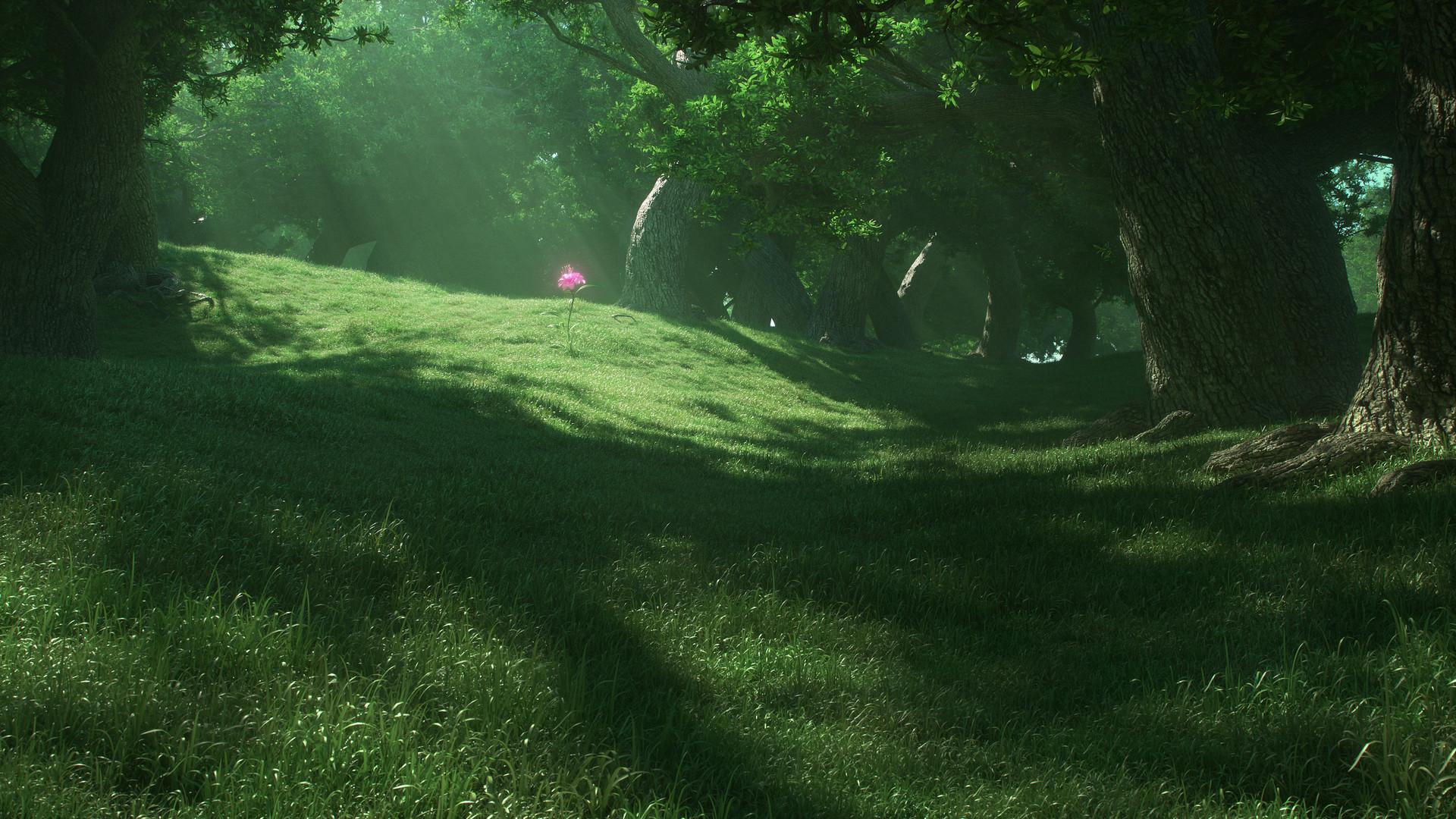 ArtStation - Magic forest - Rendin, LK (Lord-Kvento)