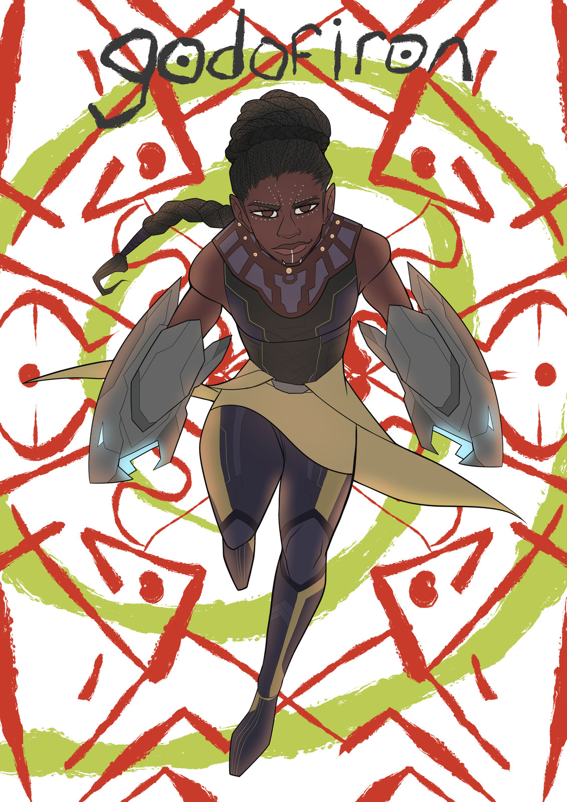final illustration of my president, princess Shuri, overwhelming genius and sister to the black panther!