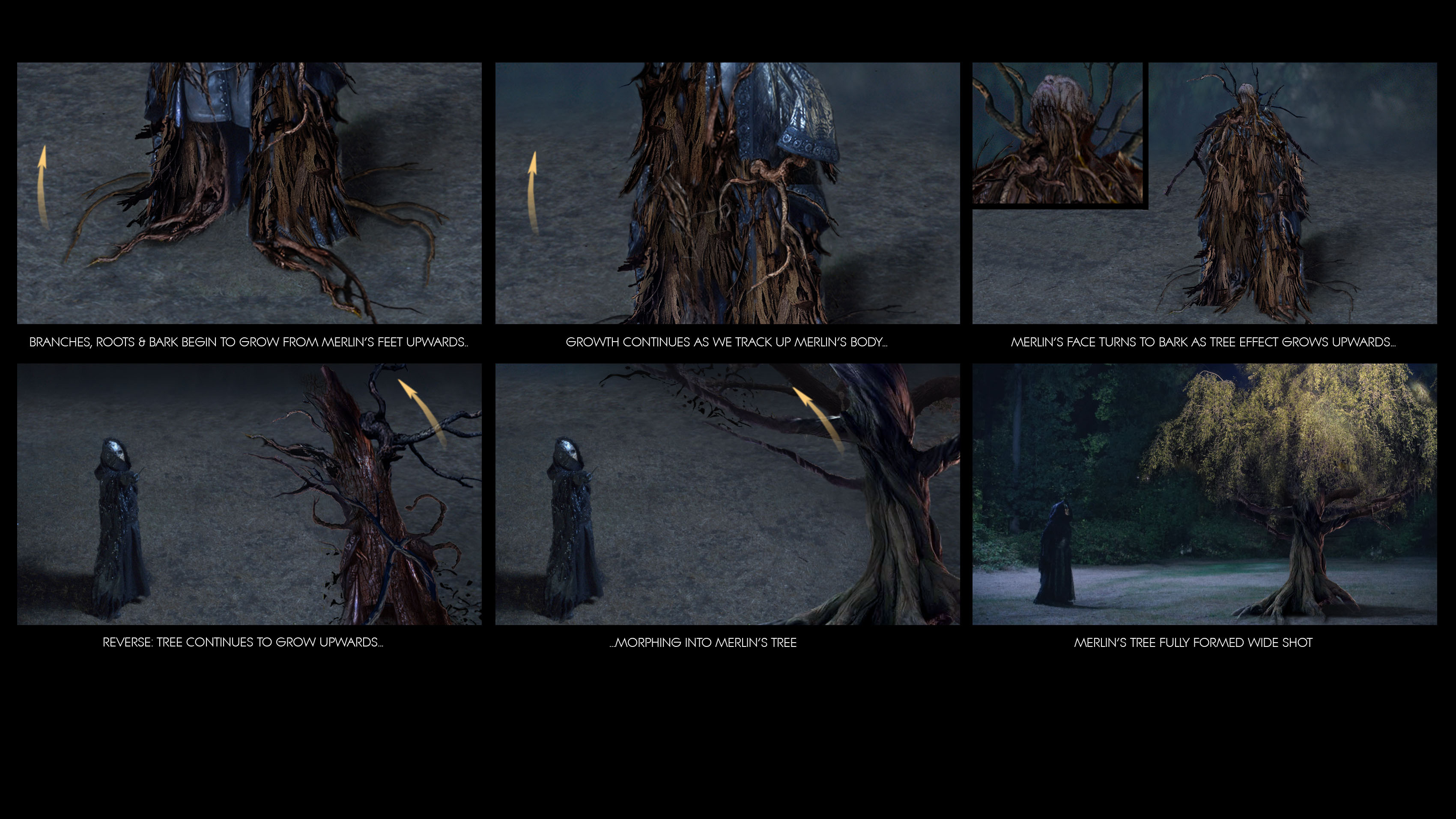 Merlin's Tree tranformation effect / Once Upon  a Time Season 5