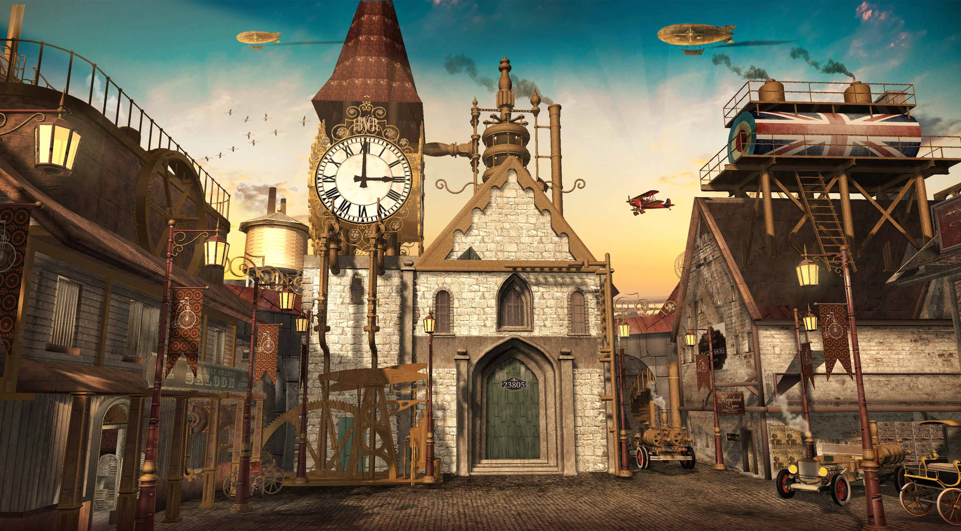 2D / 3D Land of the Lost Stories Marketplace - Once Upon  a Time Season 5 Additional Geo by Doug Mclean
