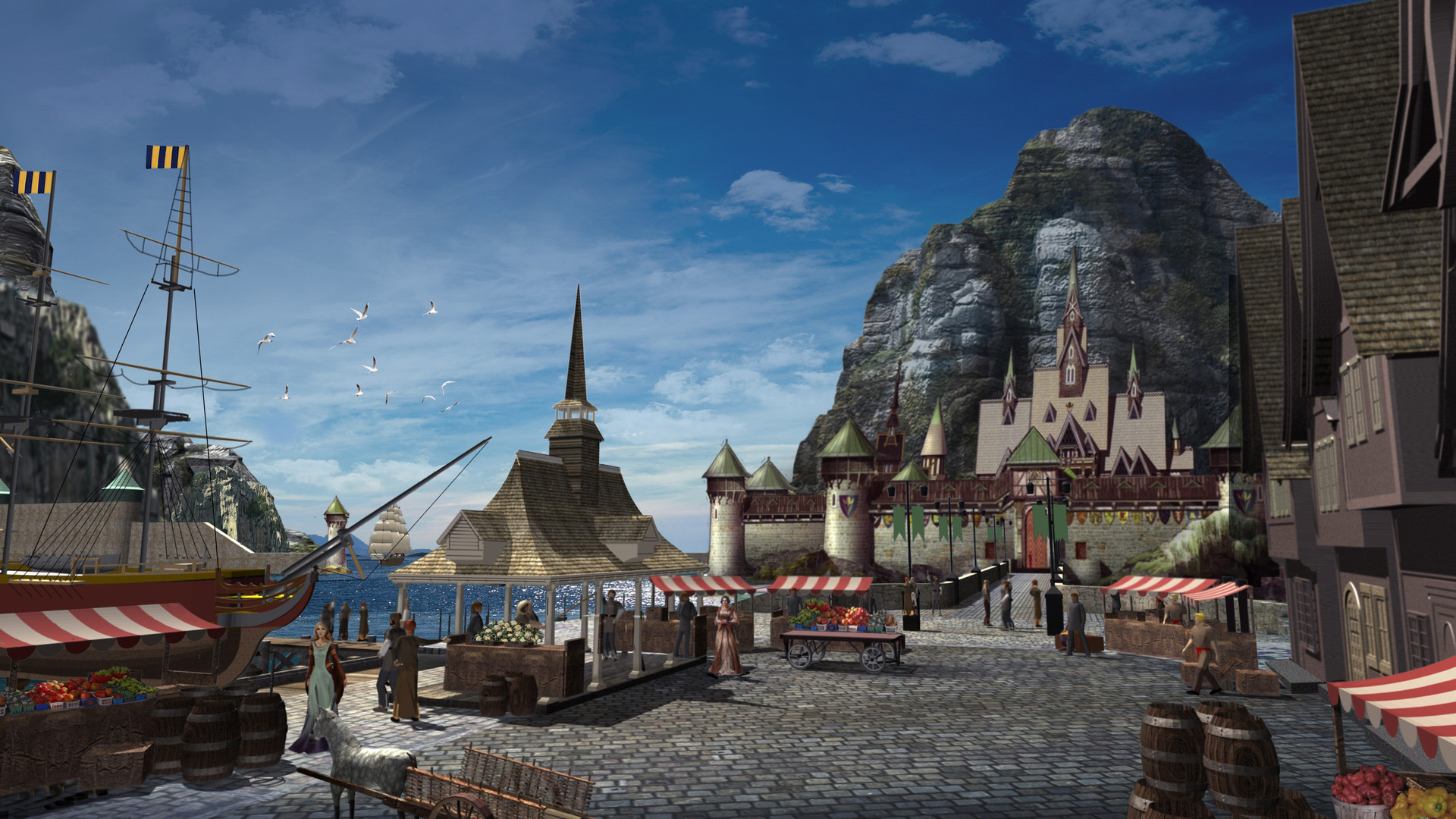3D Town of Arendelle - Once Upon  a Time Season 4