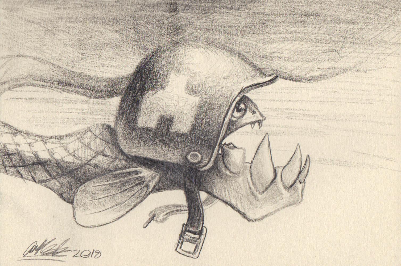 original small pencil sketch