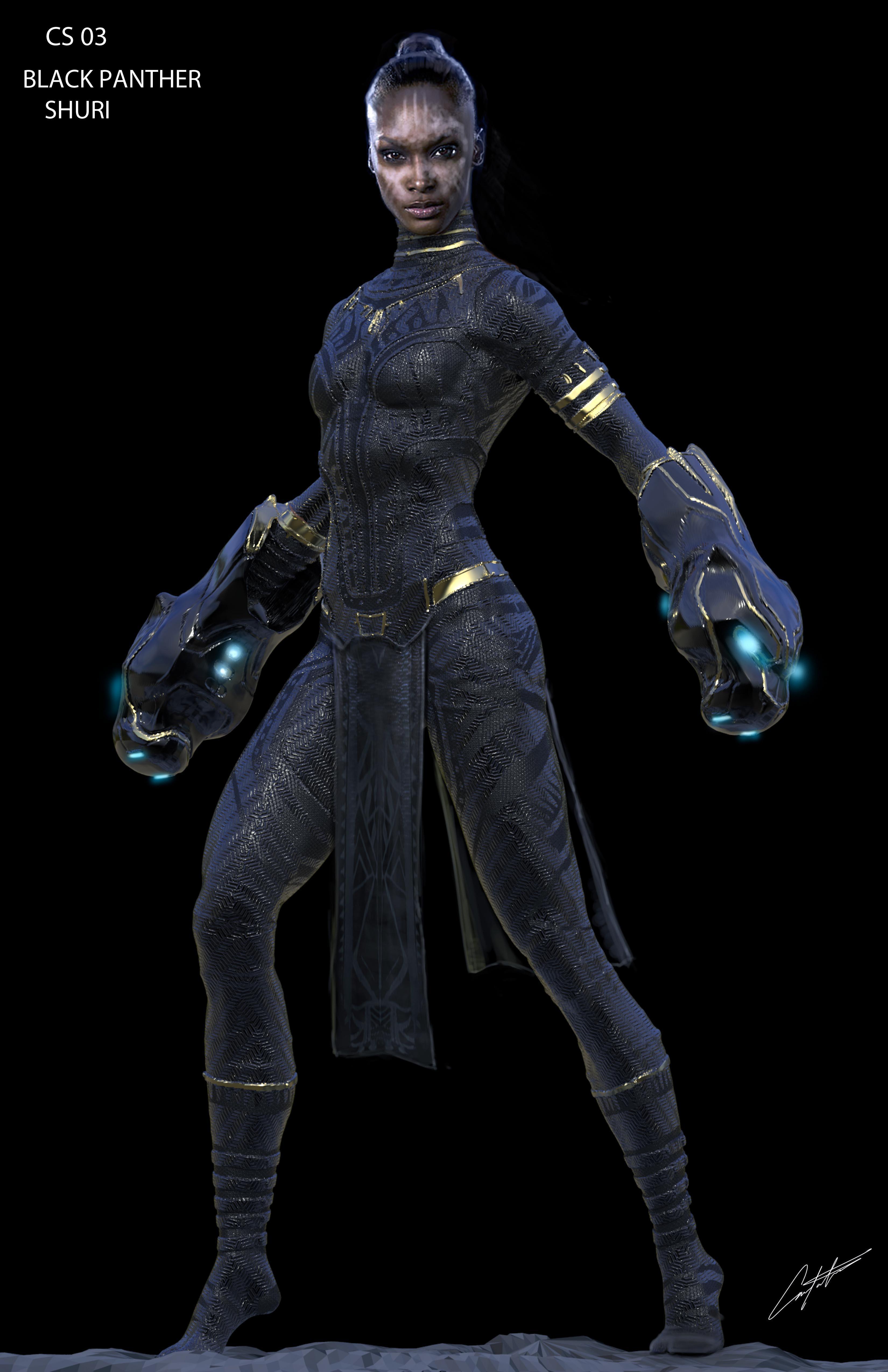 Black Panther Shuri Costume Concept Design