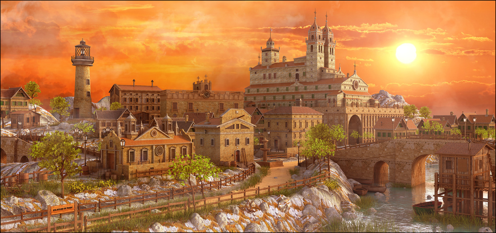 Sunset Medieval Environment