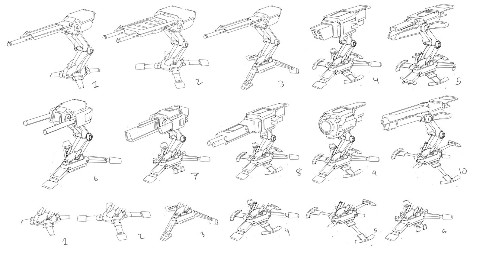 Early turret thumbnails