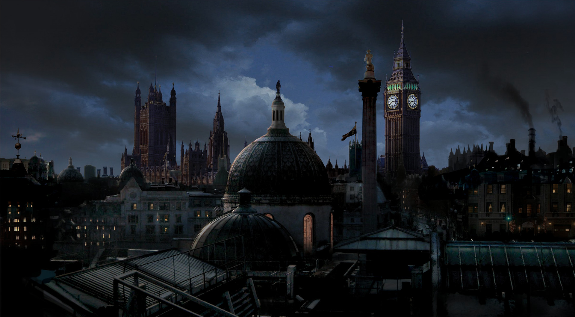 Victorian London Matt Painting for  ABC's Once Upon a Time Season 7