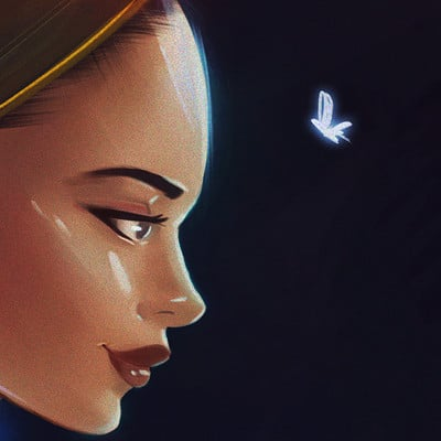 Bryan draws mariposa azul bybryandraws