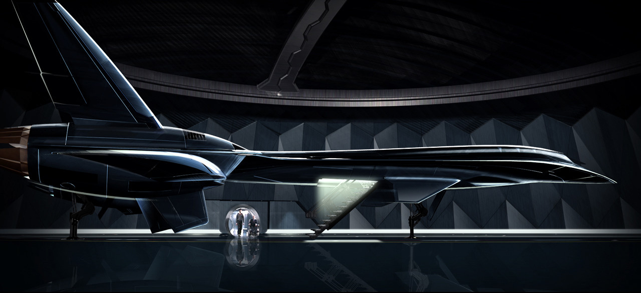 Blackbird Hangar Concept for Xmen3