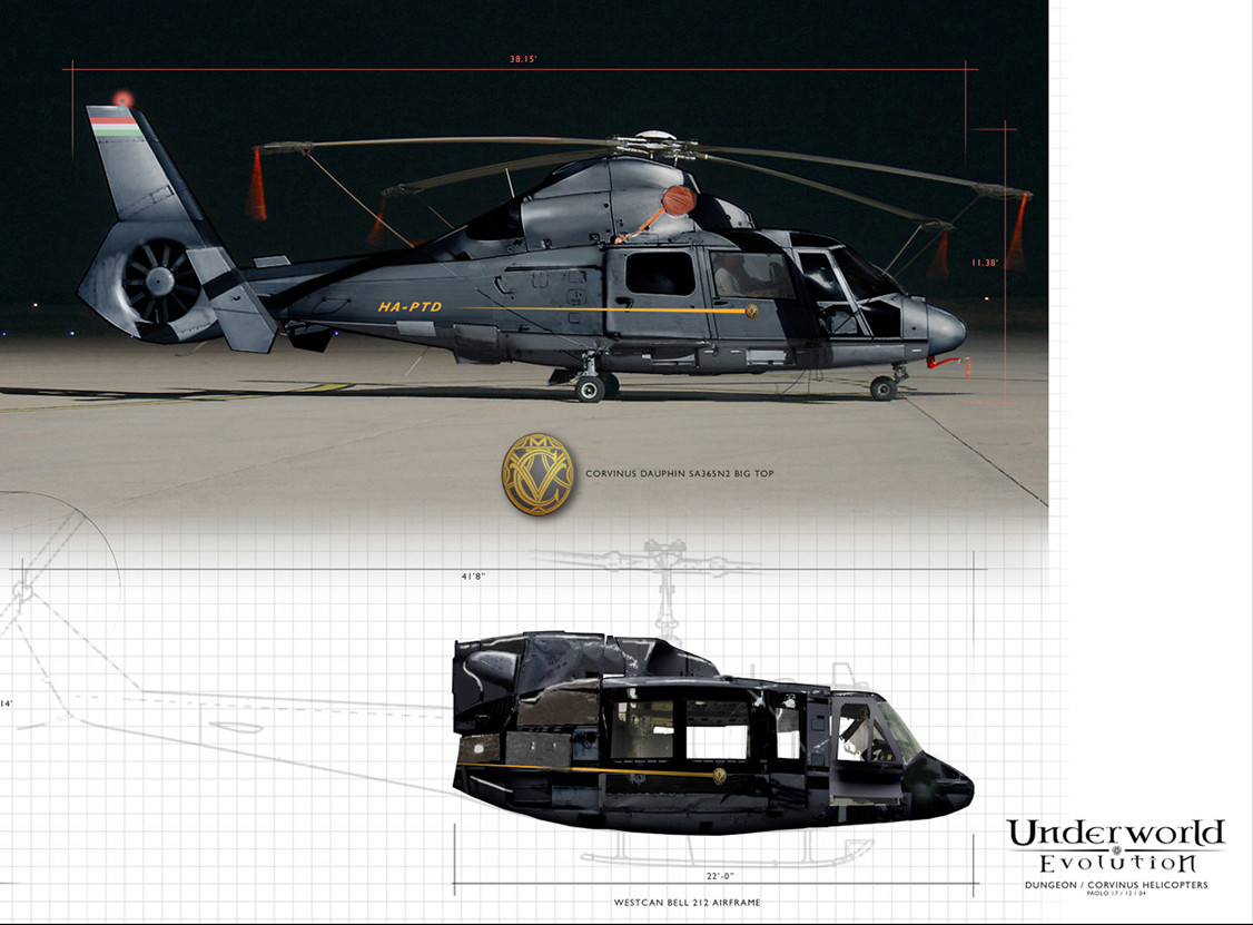 Helicopter Concept for Underworld; Evolution