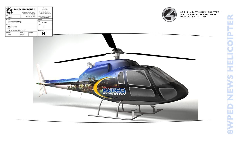 Helicopter Vinyl Wrap for Fantastic 4