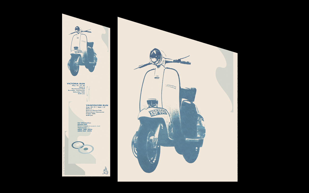 Early Scooter Poster