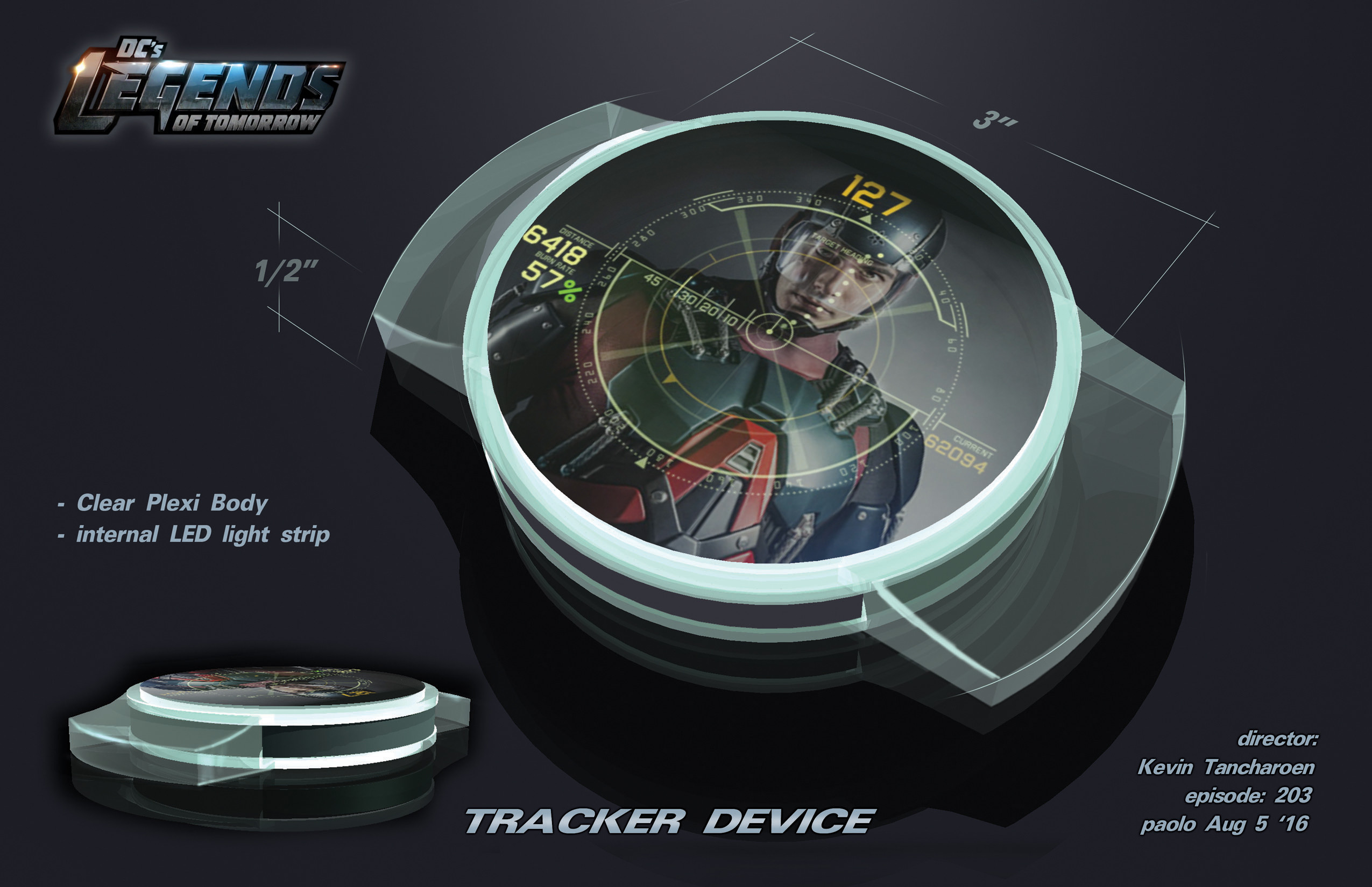 Tracker Device Design for Legends of DC Season 2