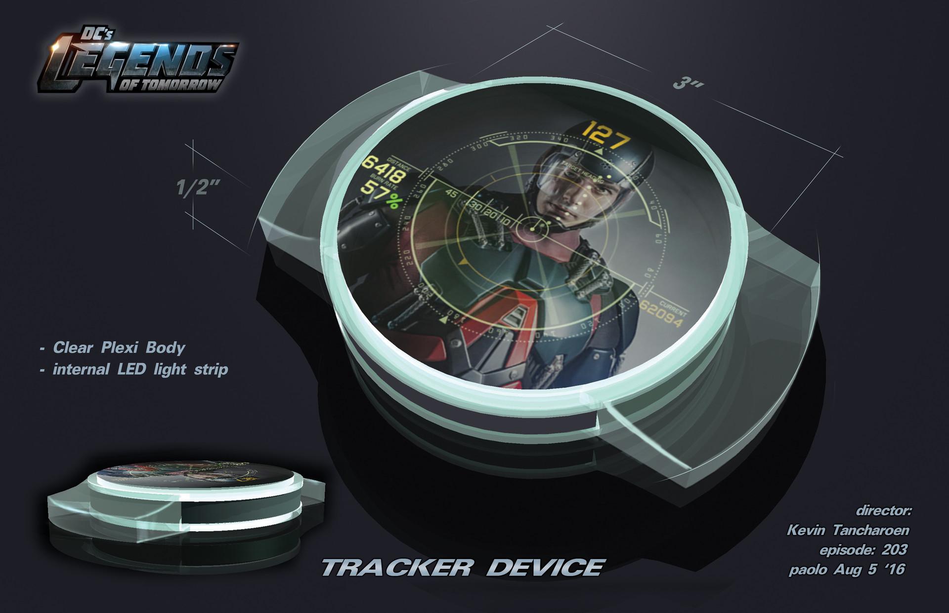Tracker Device Design for Legends of DC Season 2