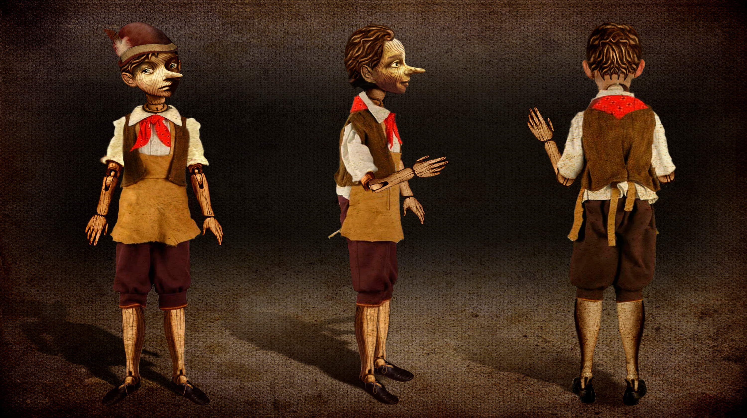 Pinocchio 3D Puppet and Practical Build - Clothed - Once Upon  a Time Season 1