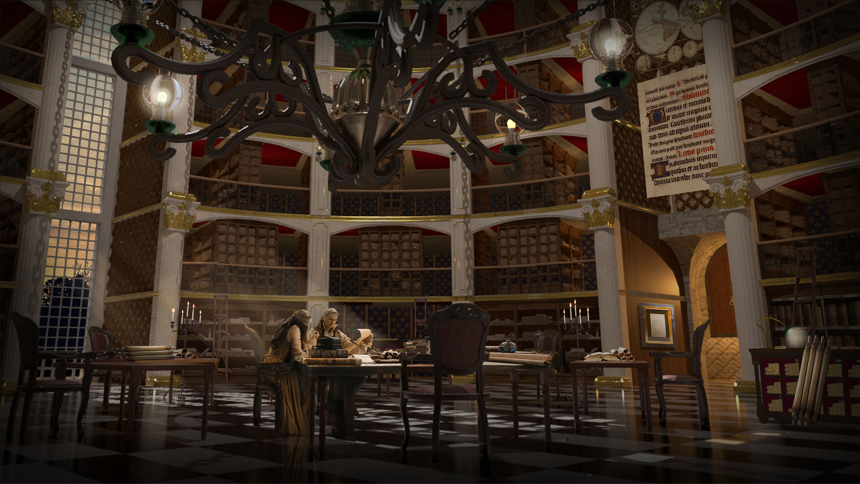 Library of Scrolls Concept for  ABC's Once Upon a Time Season 7 - 3D Geo / Rendering Chad Harms