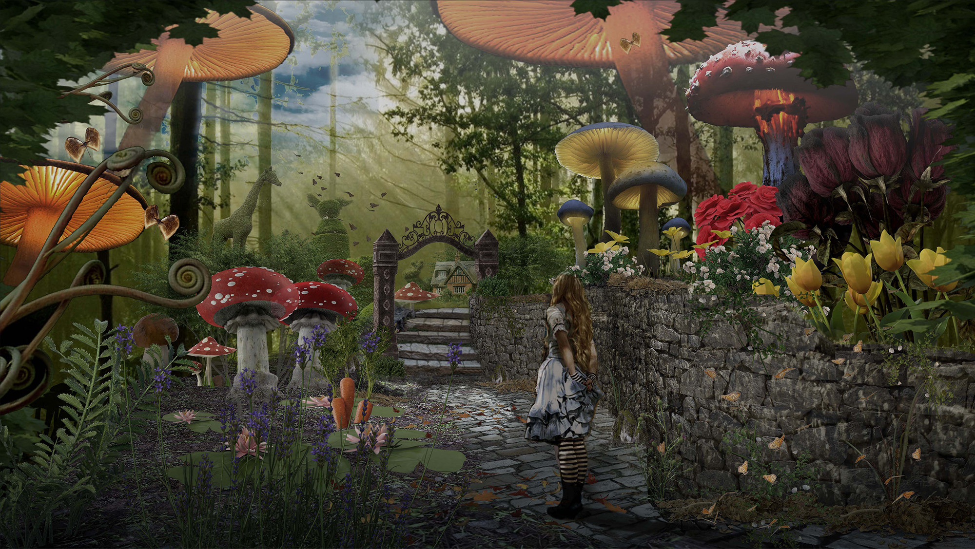 Wonderland Concept for  ABC's Once Upon a Time Season 7 - 3D Geo / Rendering Chad Harms