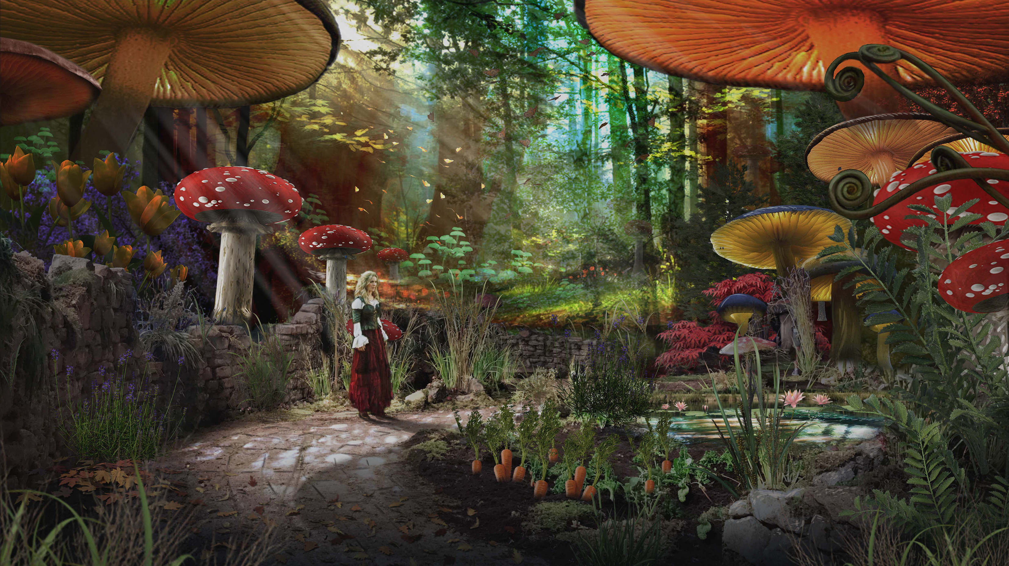 Wonderland Reverse View Concept for  ABC's Once Upon a Time Season 7 - 3D Geo / Rendering Chad Harms