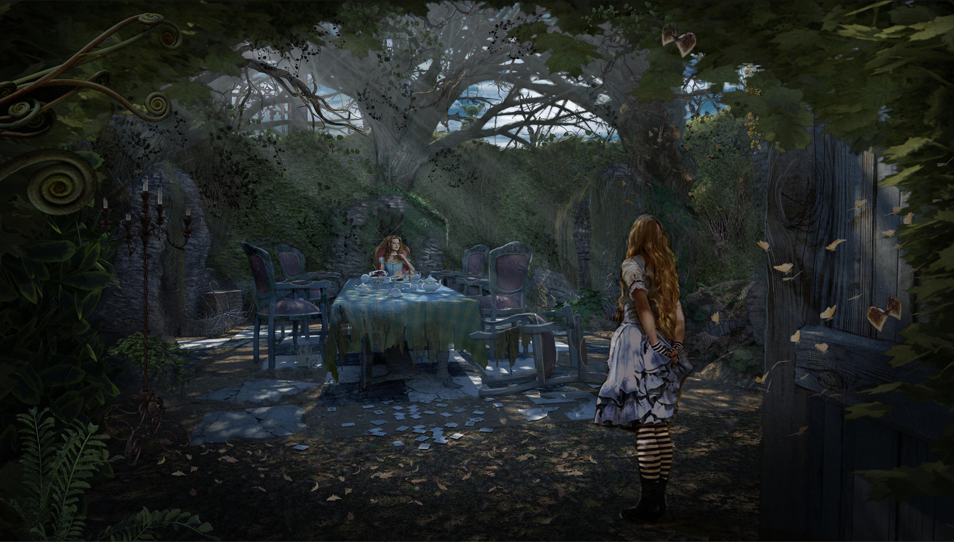 Wonderland Tea Party Concept for  ABC's Once Upon a Time Season 7 - 3D Geo / Rendering Chad Harms
