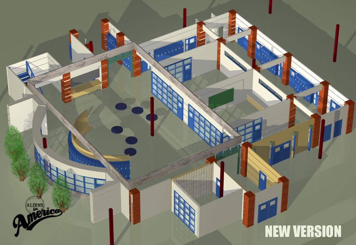 3D School I Production Designed for Aliens in America