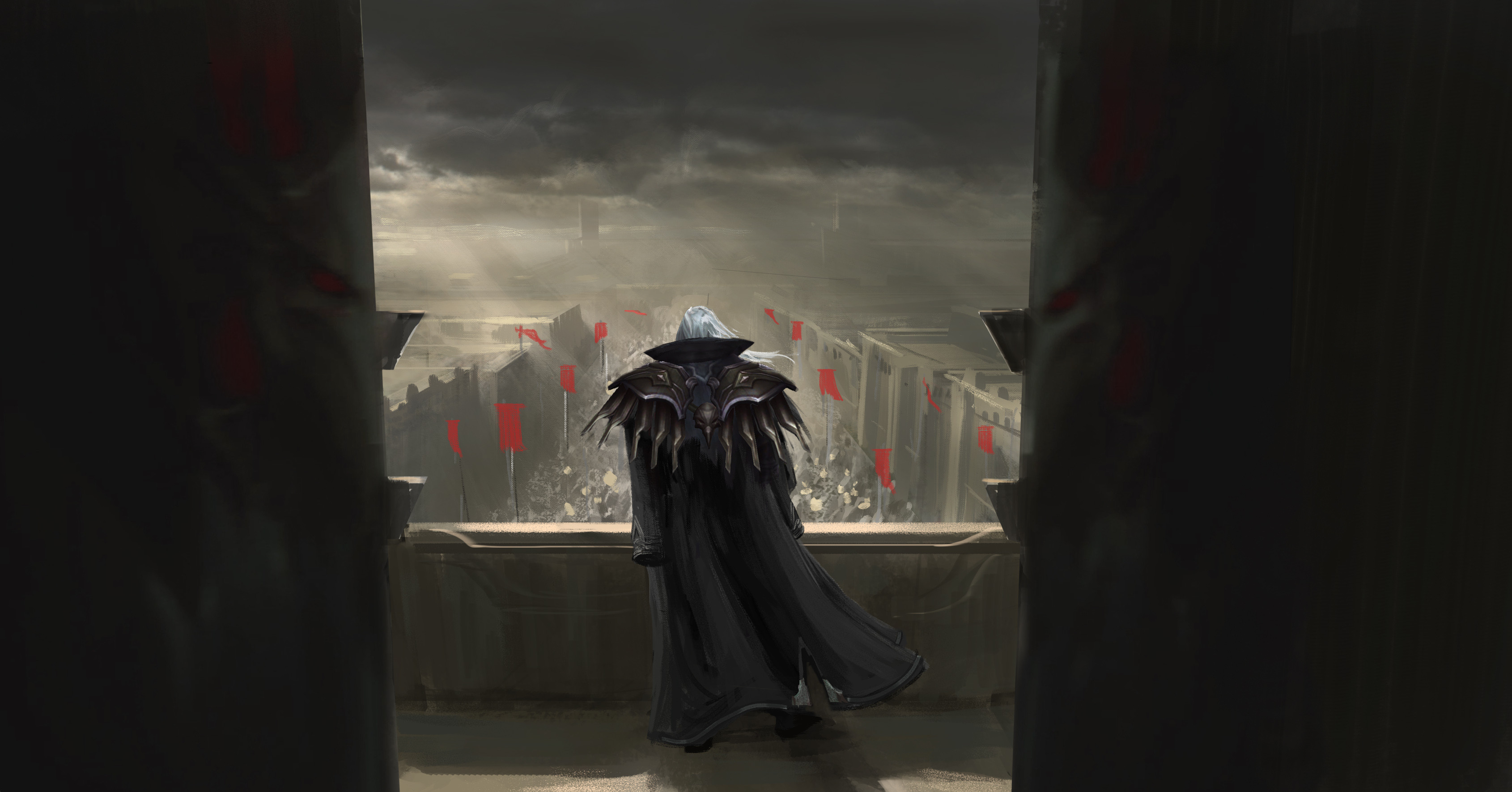 The image of Swain standing like an emperor, overlooking the troops of Noxus was really important.