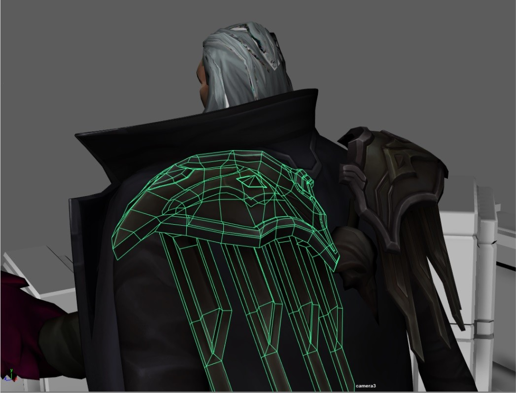 Here you can see the geometry tweaks that makes this model look a lot better when shaded.