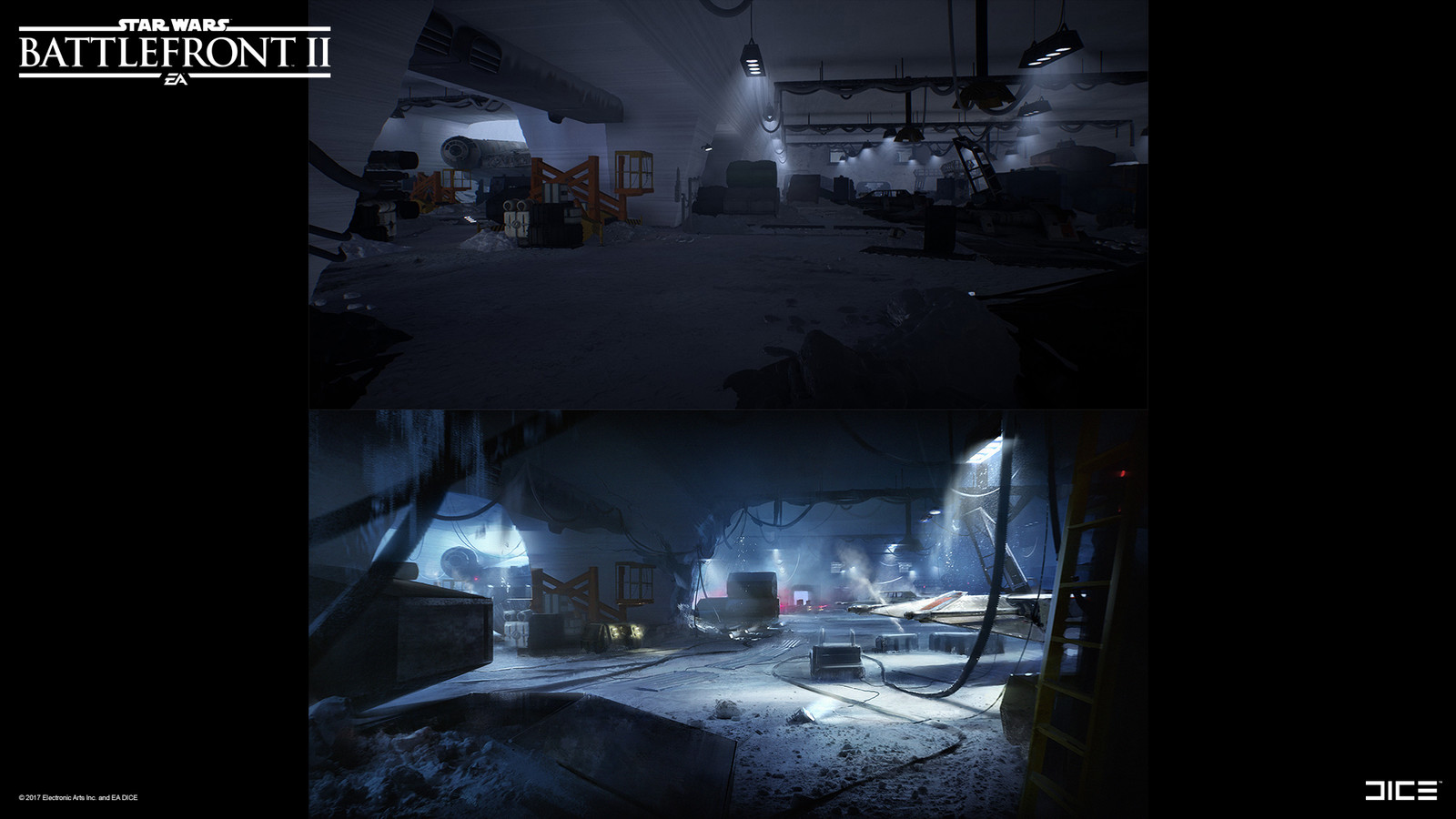 Lighting paintover - Hoth. Collaboration with Sigurd Fernström.
