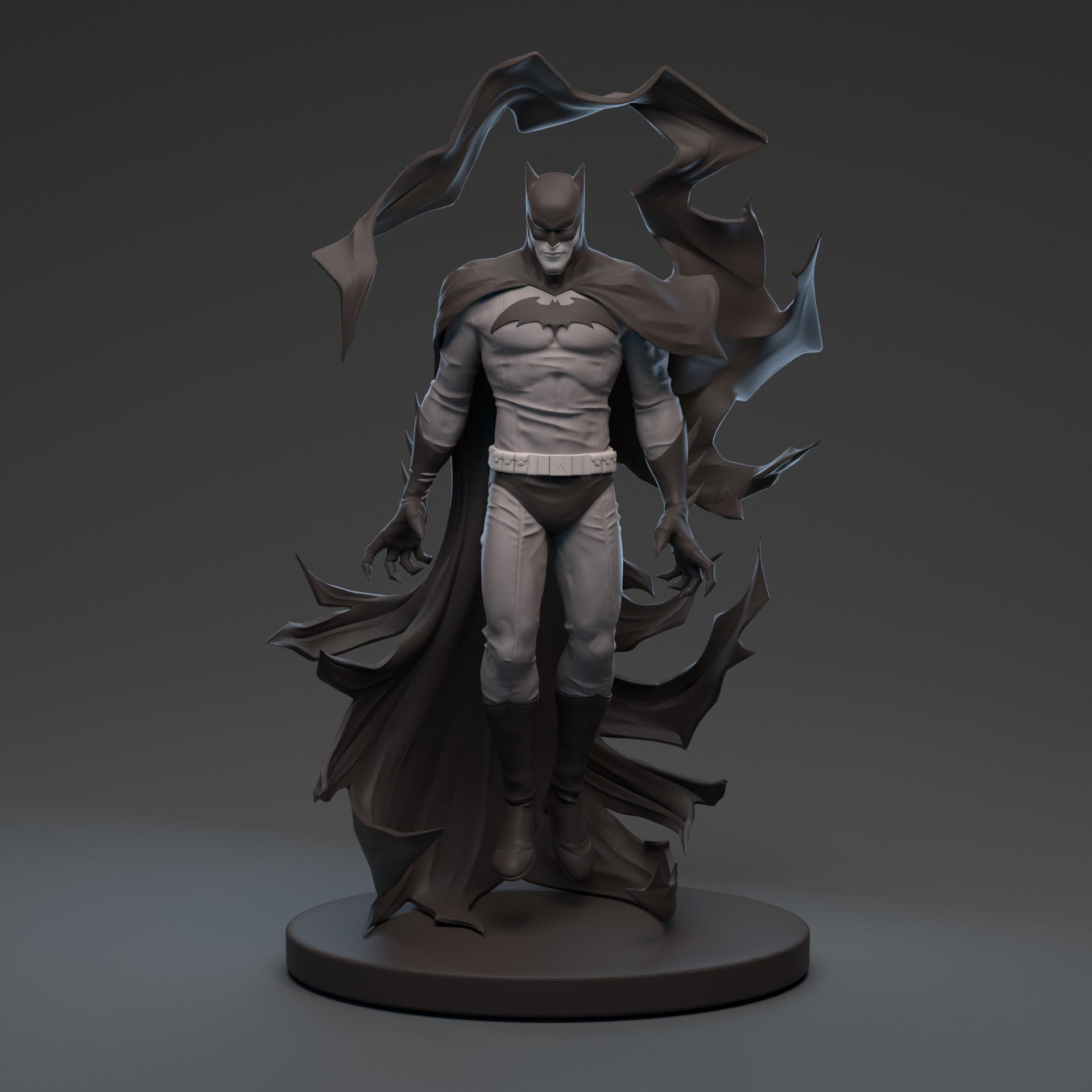 artstation - becky cloonan batman black & white statue , irene matar
