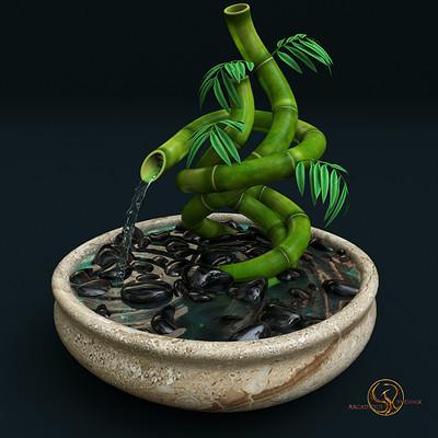 Arcadeous phoenix bamboo fountain