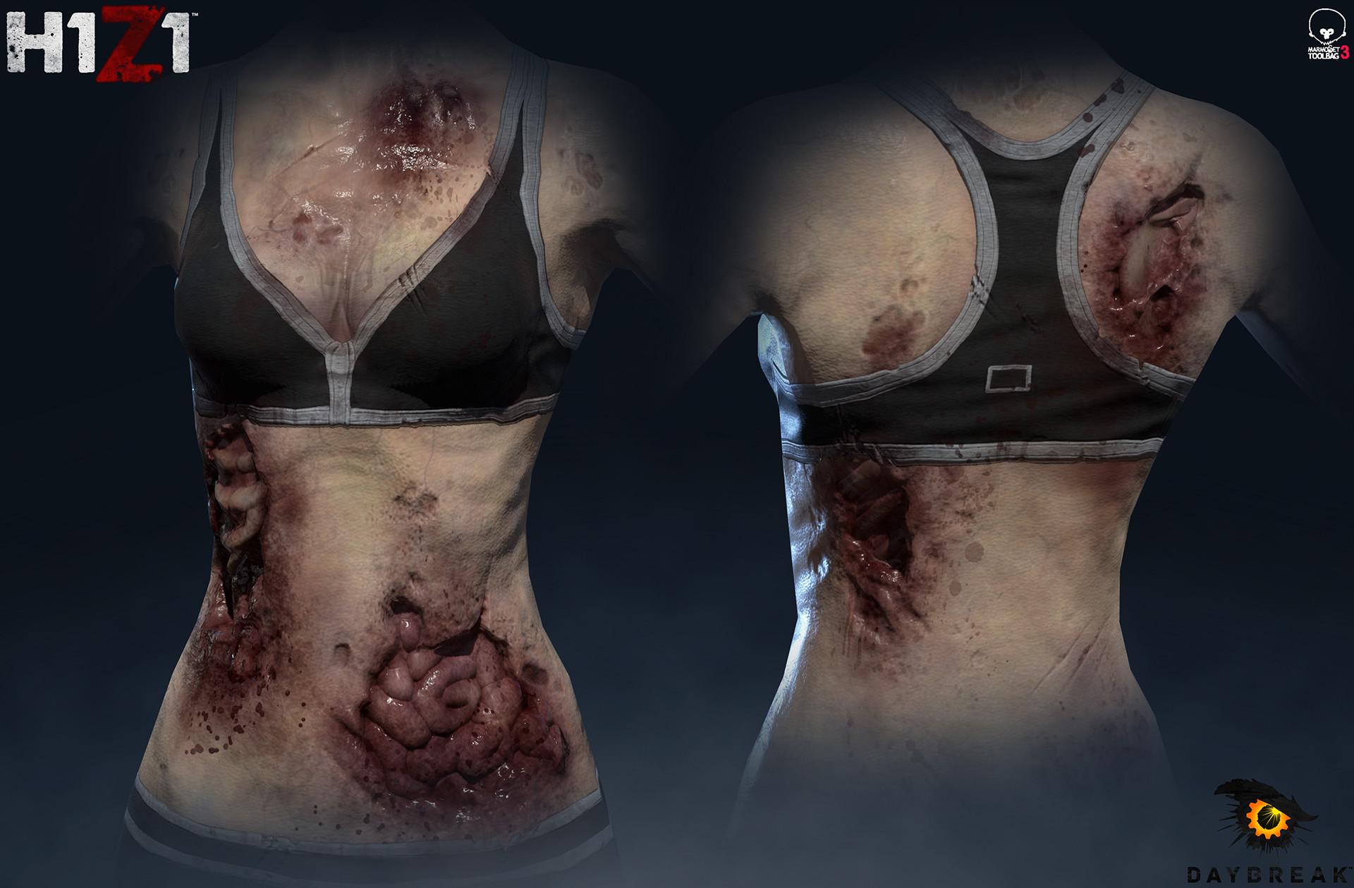 Satoshi arakawa zombie female body 02