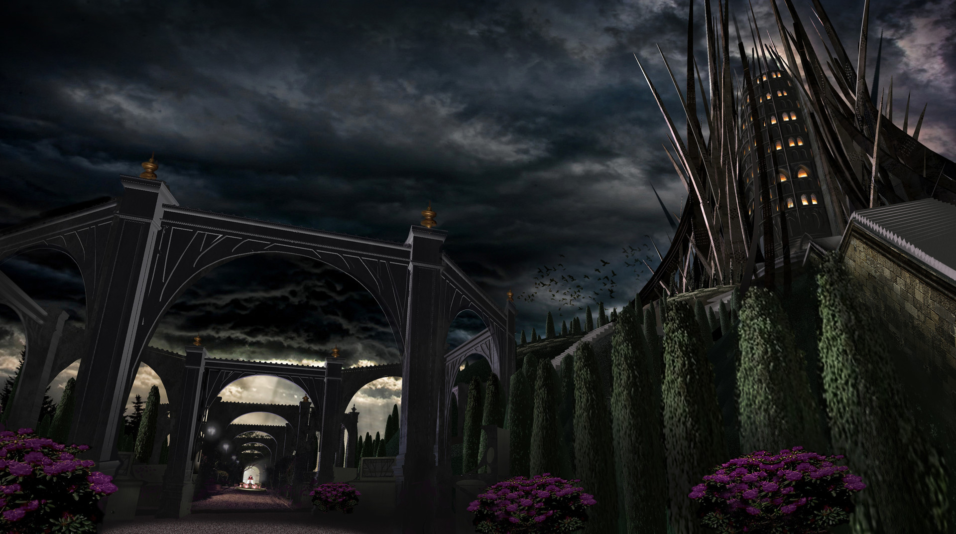 Queen's Castle and Gardens Night Lighting Concept