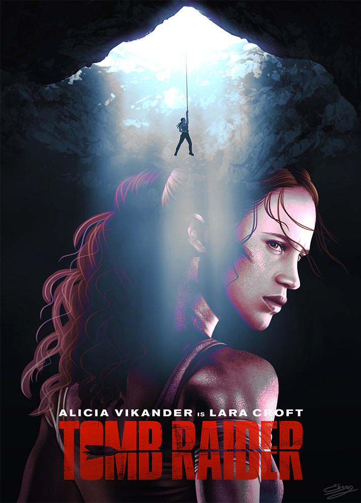 Artstation Fan Art Poster Tomb Raider Movie Elisa Guerra