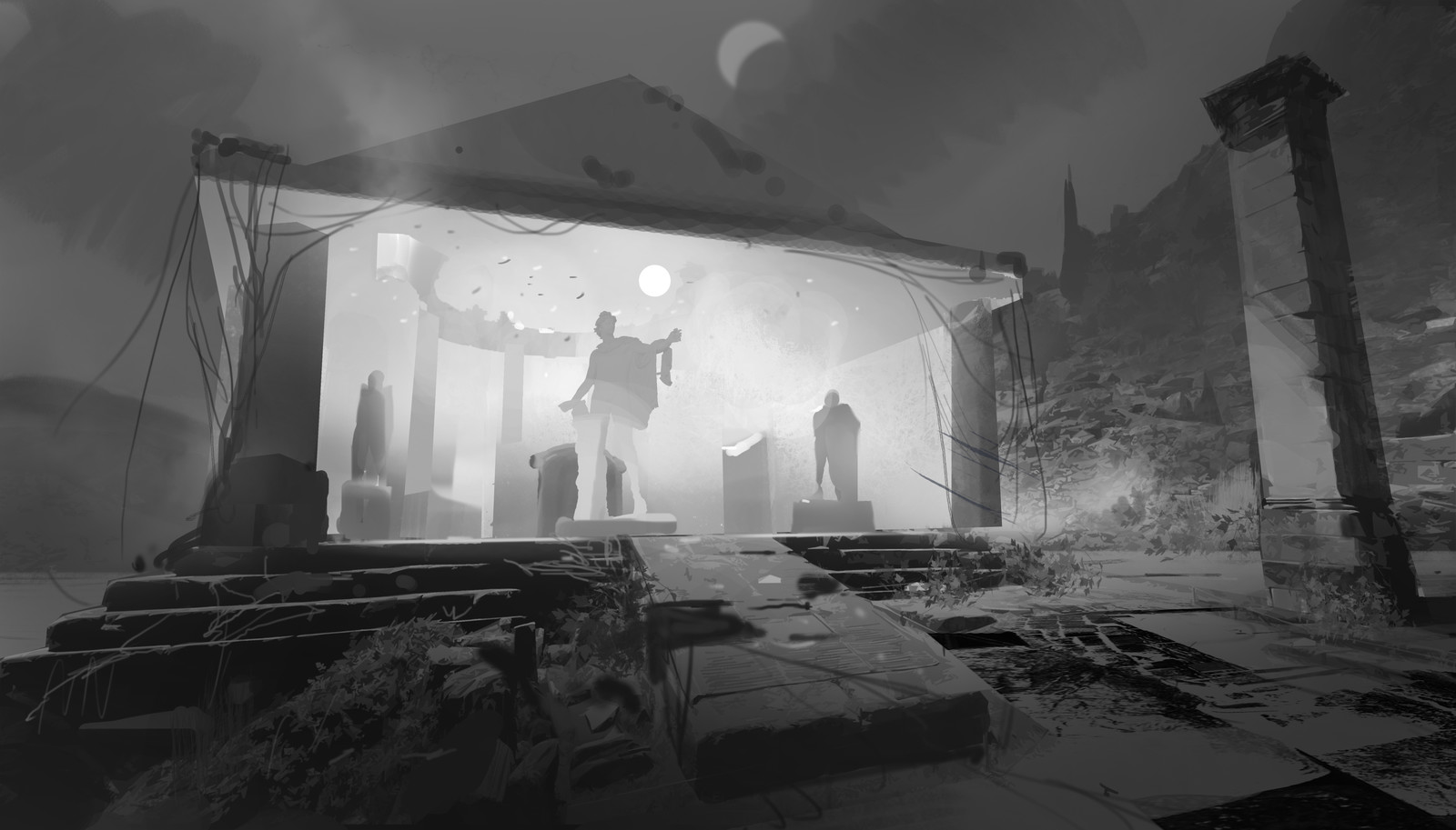 sketch1 for Temple of Deplhi