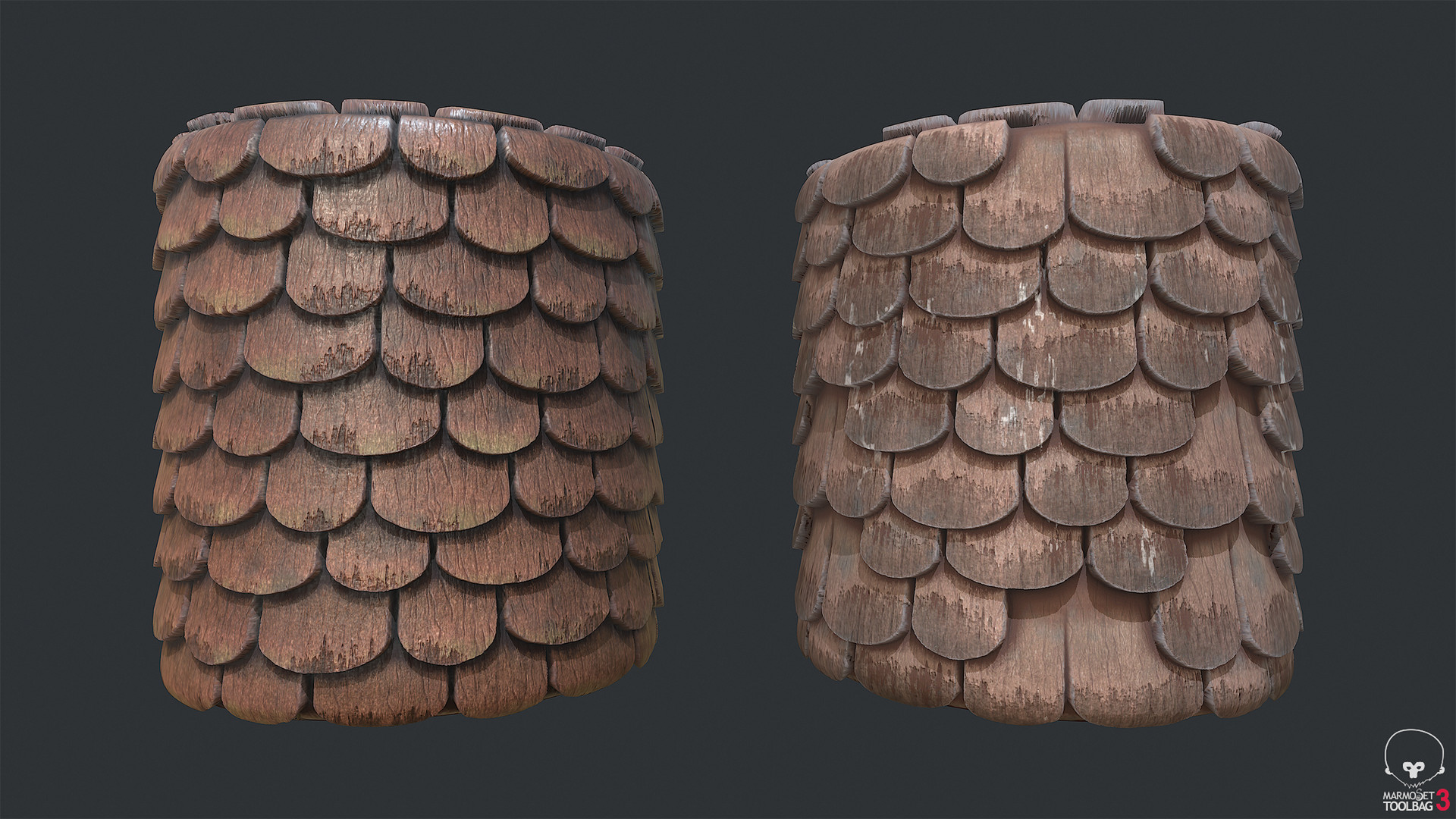 Town Tier 3 Shingles - Round red