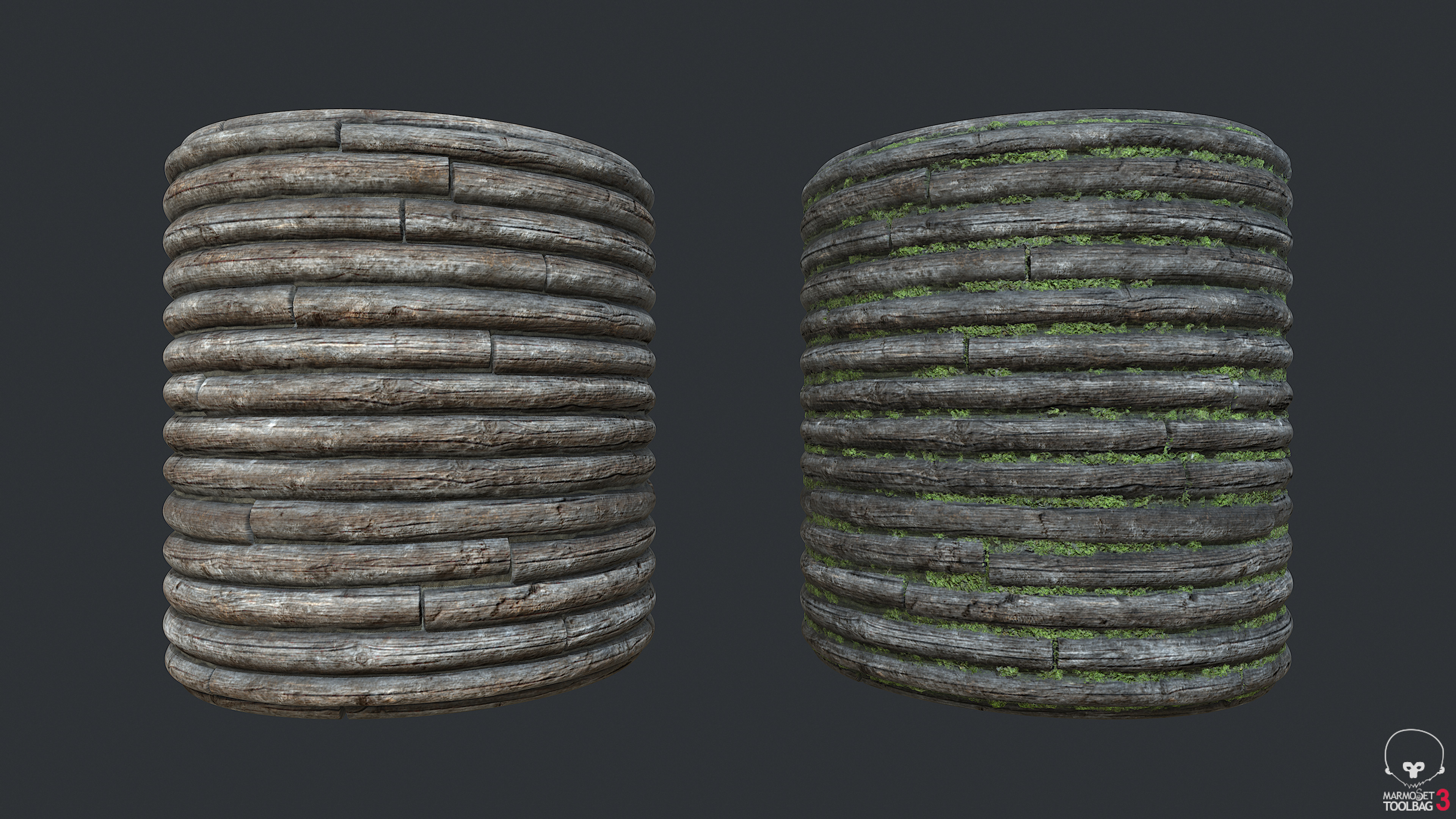 Town Tier1 Logs Wall