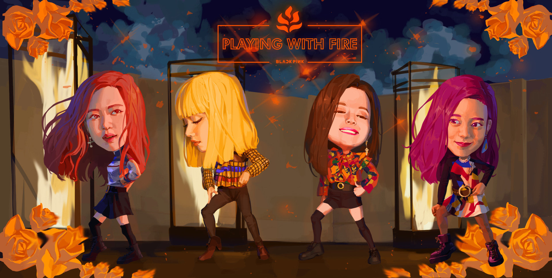 ArtStation - Black pink - Playing with fire (SD) (February