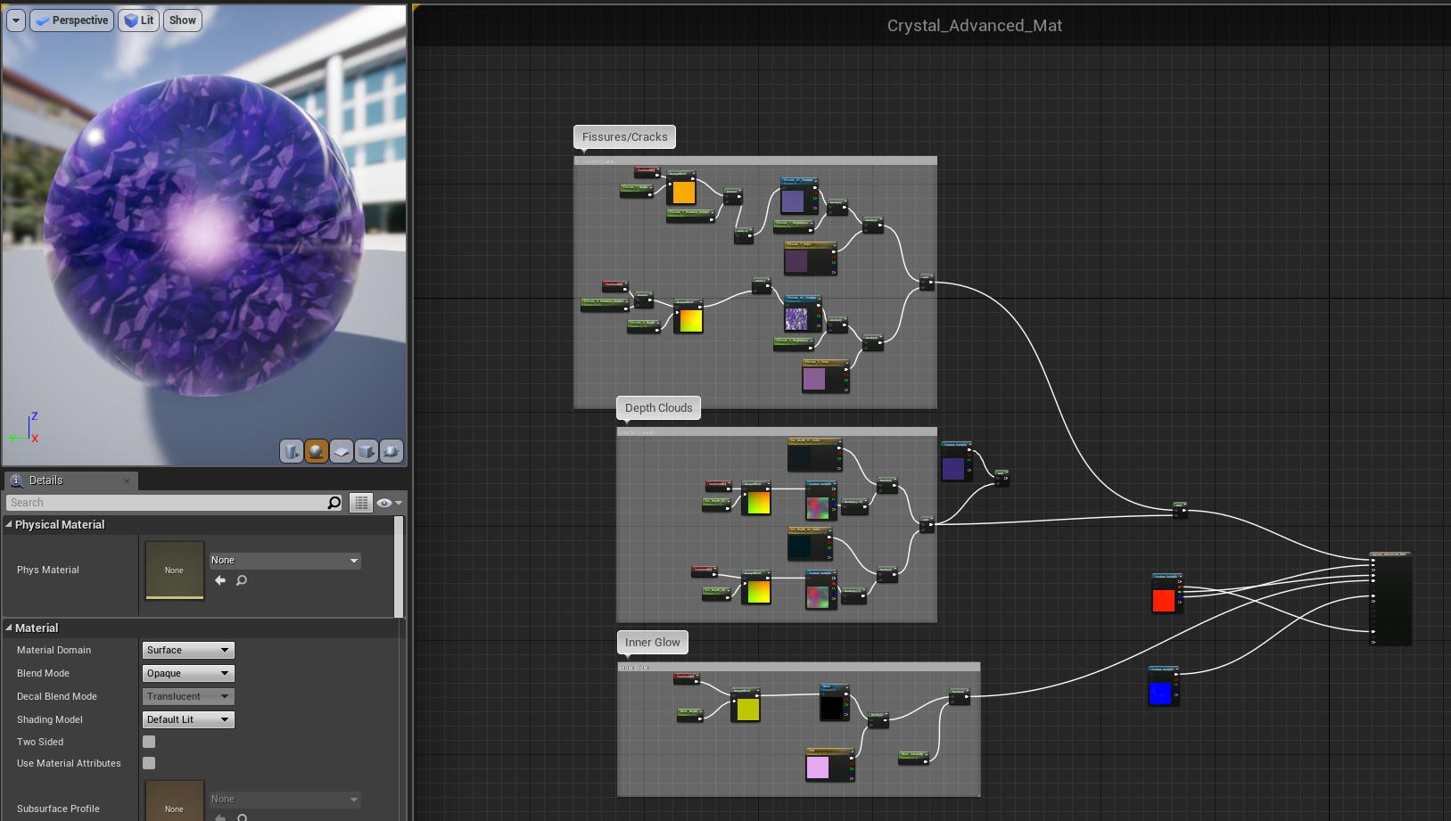 ArtStation - Crystal using Bump Offset Material, Benjamin Ford