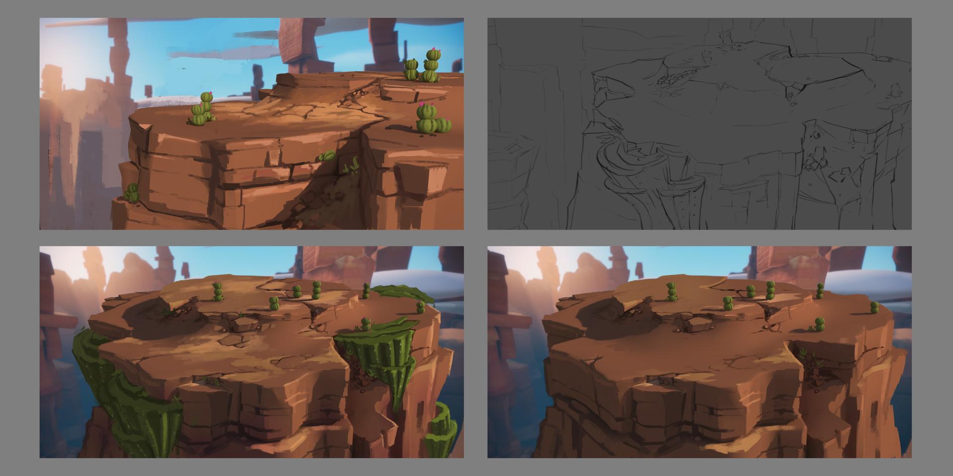 Tim kaminski desert platform sketches 1
