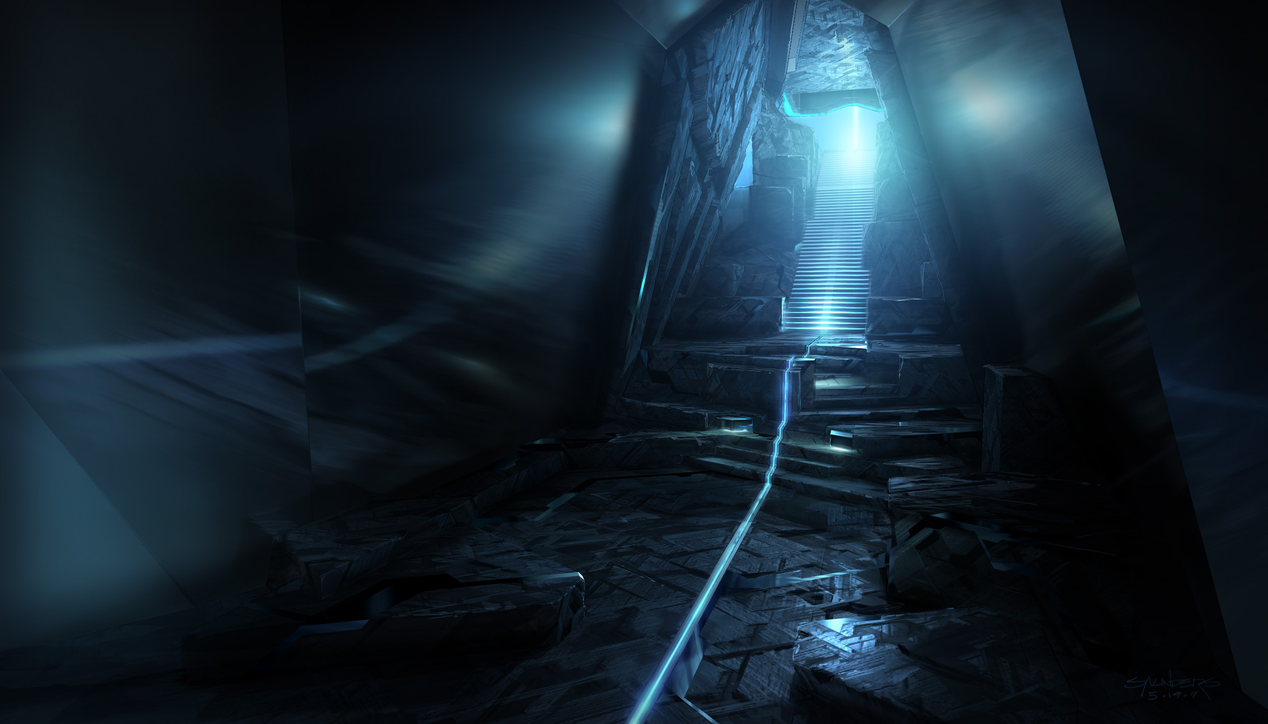View of the entrance tunnel leading to the Portal. Never seen in the movie, but I liked the drama of this view.
