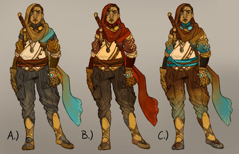 Colour-variant sketches