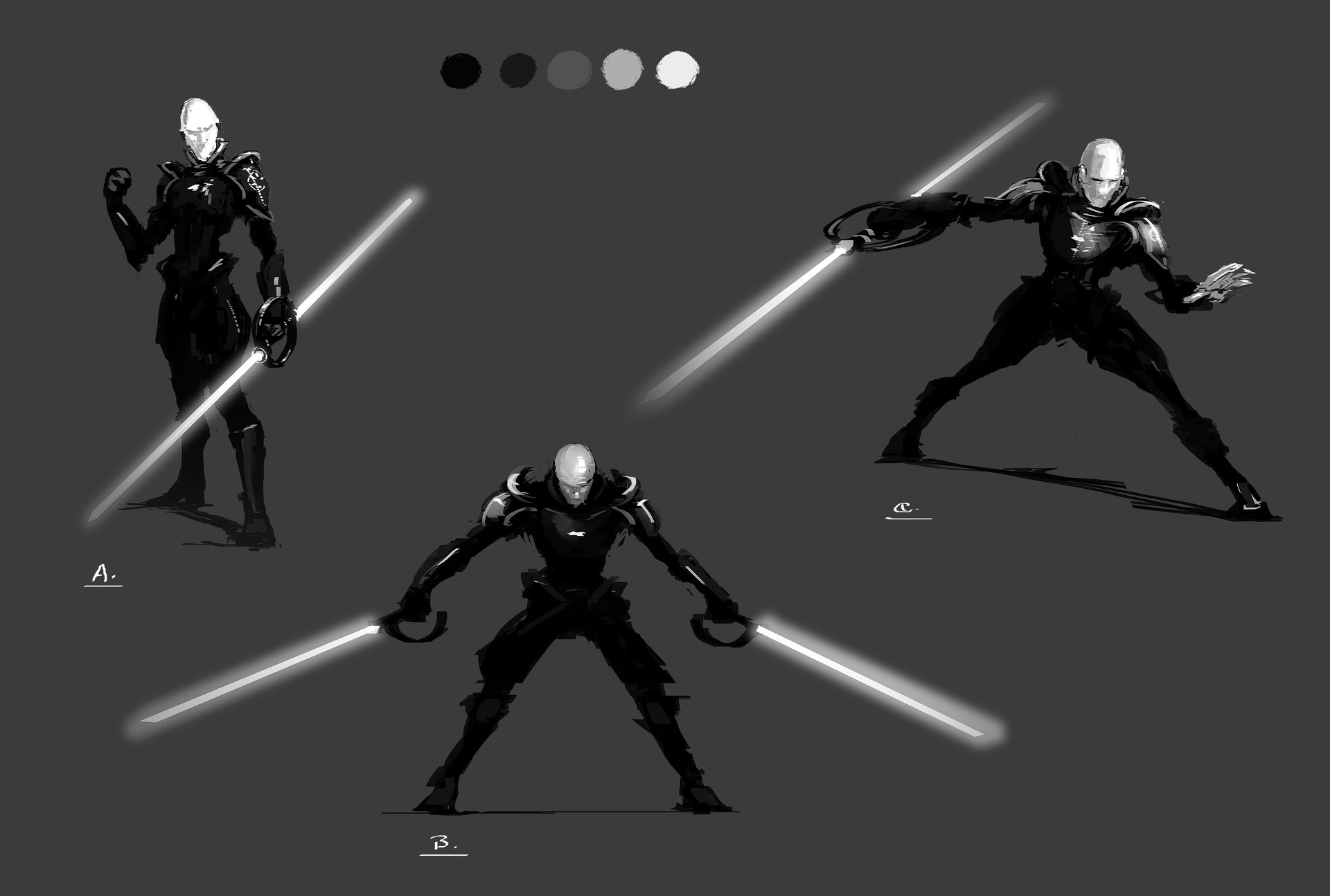 Muyoung kim sith inquisitor sketches