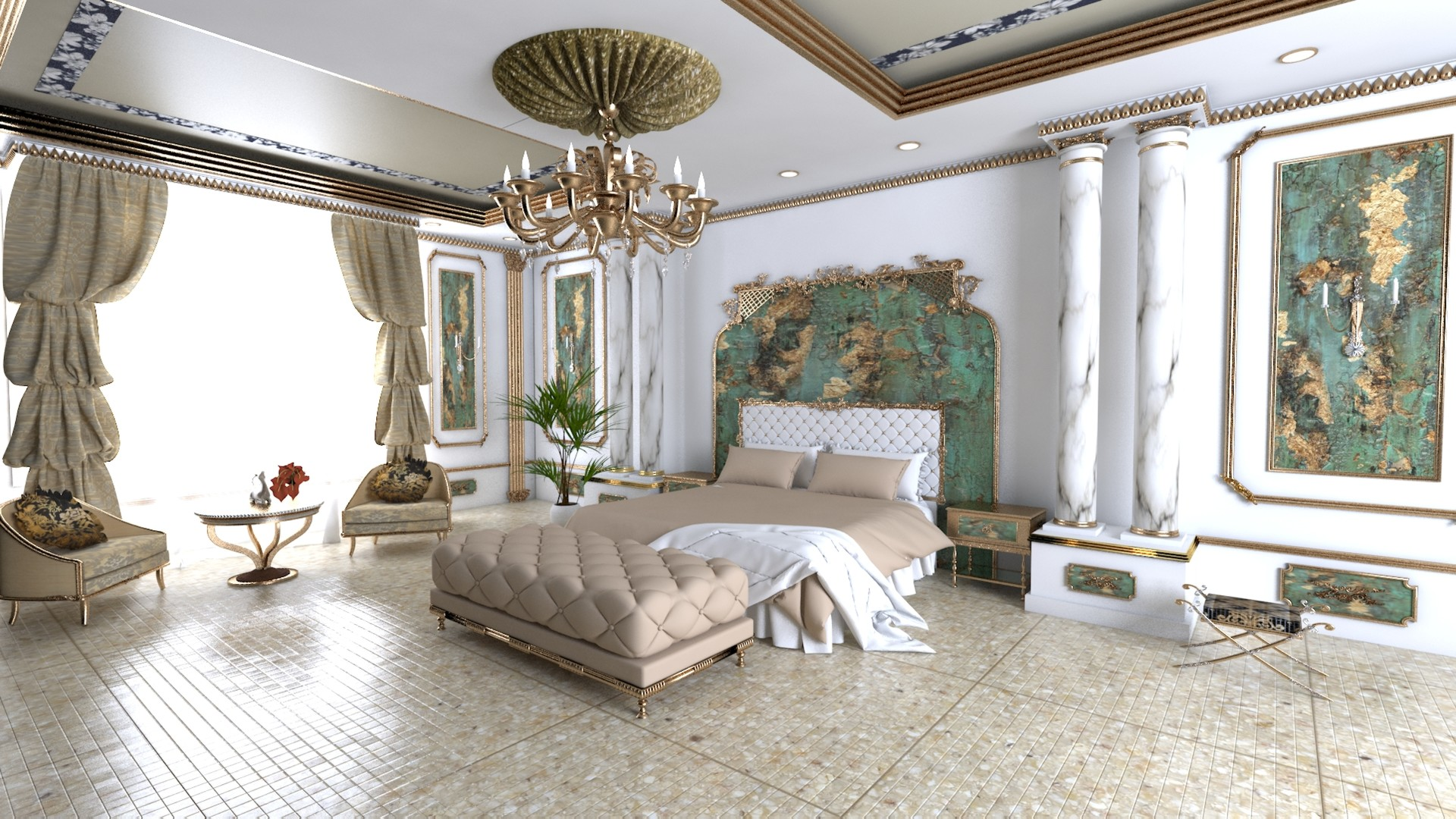 Marry O Mariya 3d Royal Bedroom Interior Design