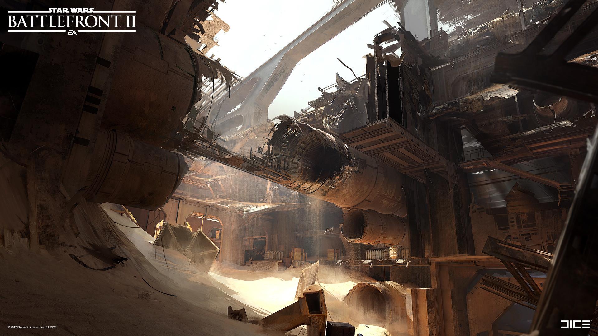 Artstation Star Wars Battlefront Ii Concept Art Jakku Esbjorn Nord