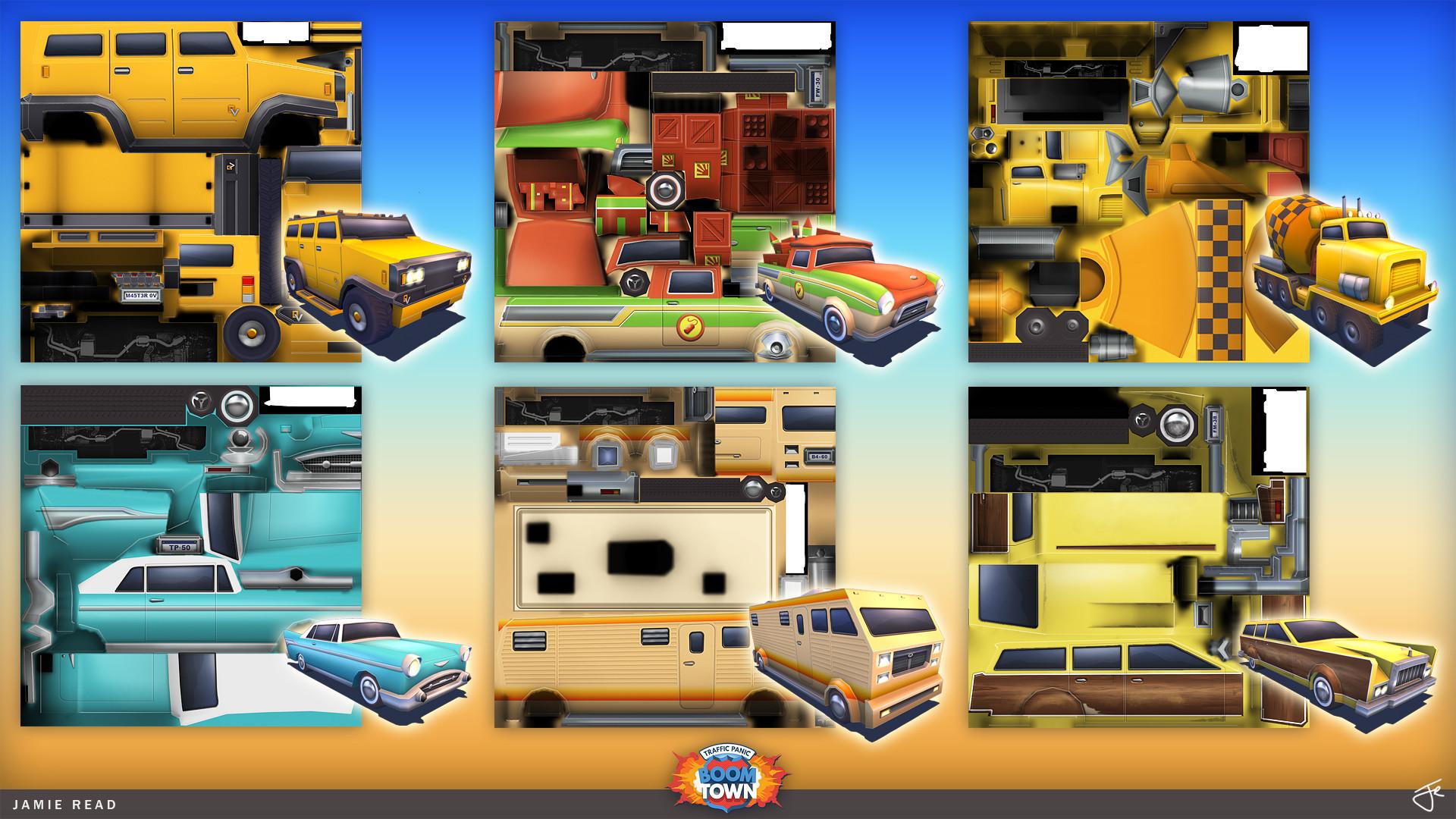 Jamie rex portfolio tpbt vehicles textures 01